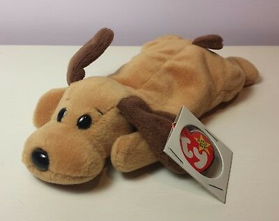 5c69fe6d860 NWT MINT BONES the Brown Dog Ty Beanie Baby 4th Generation new with tags