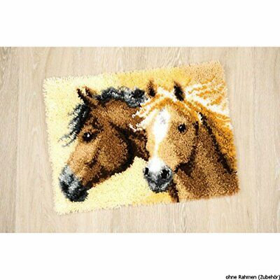 Vervaco Latch Hook Kit Rug Horses, NA, 50.8x40.64cm