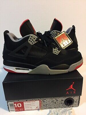 sale retailer 9371a d700d New AIR JORDAN 4 IV RETRO BRED 2012 Black Cement Red Receipt Box Dead stock  Rare