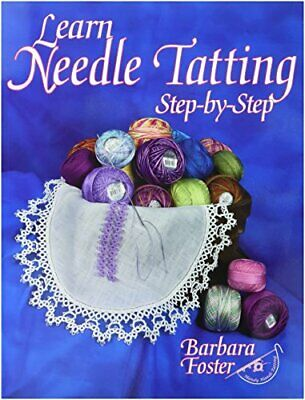 Handy Hands Learn Needle Tatting Step by Step Kit with No.5-0 Needle and Threade