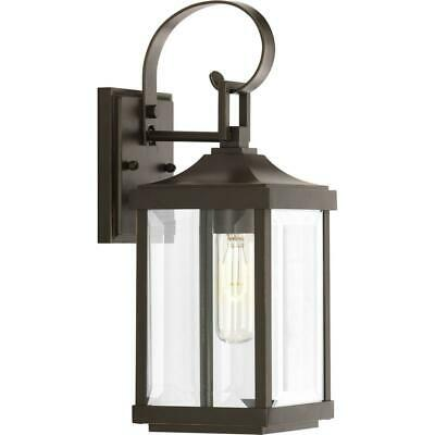 Outdoor Wall Lantern Gibbes Street Collection 1-Light Antique Bronze 15.1 in.