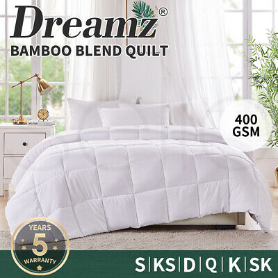 Dreamz All Size Microfiber Bamboo Fiber Winter Summer Quilt Duvet Doona Washable