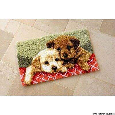 Vervaco Puppies Latch Hook Rug, Multi-Colour