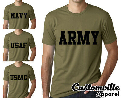 US Army Navy Air Force USAF Marines USMC Military Training Men's/Unisex T-shirt