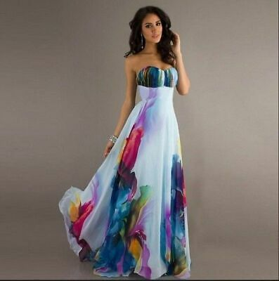 Sexy Women Summer Boho Long Maxi Evening Party Dress Beach Dresses Floral Dress
