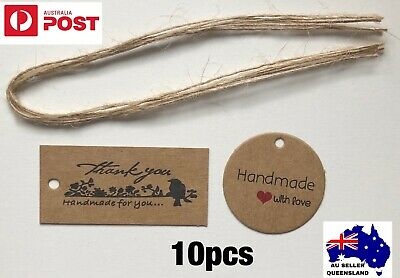 Handmade With Love Tag, Thank You Tag, Kraft Cardboard, Hang Tag, Gift Tags BN