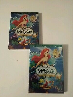 "The Little Mermaid (DVD, 2006, 2-Disc Set, Platinum Edition) New ""Family Time"""