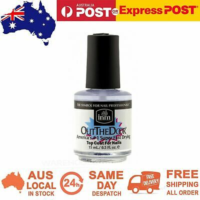 INM Professional Out the Door Super Fast Drying Nails Polish Top Coat Clear 15ml