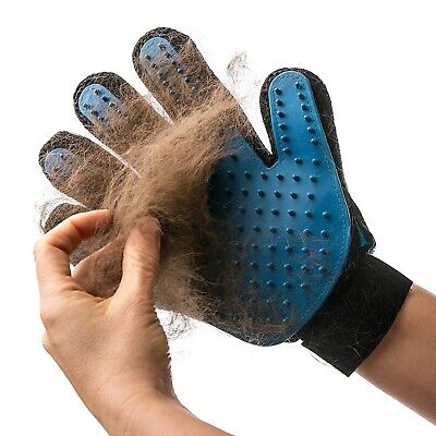 Pet Grooming Glove Hair Remover Brush Gentle Deshedding Efficient Pet Mitt