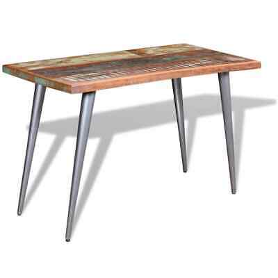 Handmade Dining Table Solid Reclaimed Wood Kitchen Dinner Furniture 120x60x76 cm