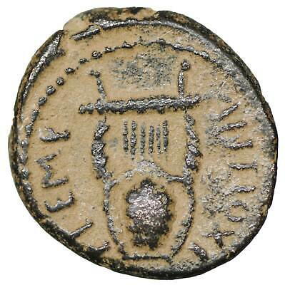 Seleukis and Pieria ancient Greek Bronze coins Old coin Authentic Apollo Lyre