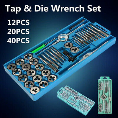Metric Tap Wrench and Die Pro Set M6-M12/M3-M12 Nut Bolt Alloy Metal Hand Tools
