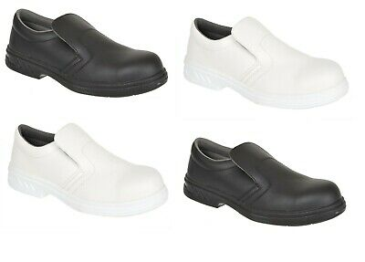 Portwest Safety Slip On Shoes Work Boots Toe Cap Food Medical Kitchen  FW81