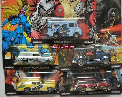 Hot Wheels Pop Culture 2019 Premium X-Men Case B Set Of 5 Nissan '71 Plymouth