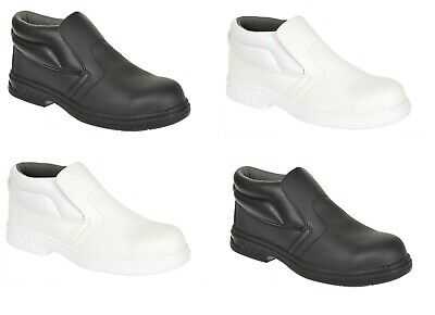 Portwest Safety Slip On Work Boots Shoes Toe Cap Food Medical Kitchen  FW83