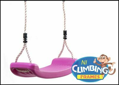 Children's Replacement PINK Swing Seat Height Adjustable Rope Climbing Frame