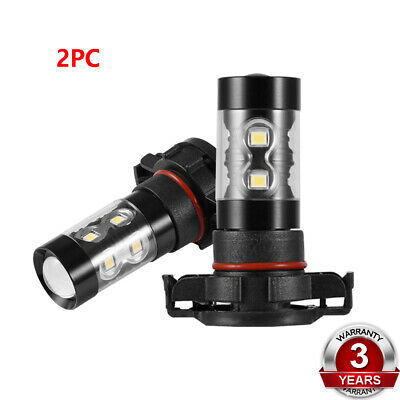 2PC H16 LED 3535 CREE Fog Driving Daytime Running Light High Power 6000K White
