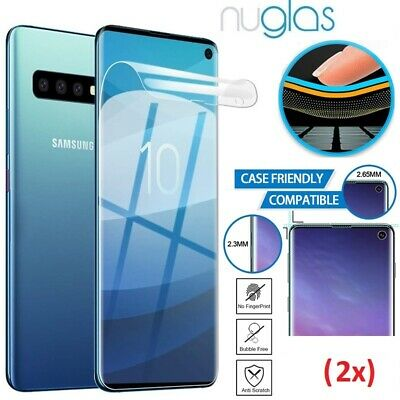 2x Galaxy S10 Plus S10e NUGLAS Full Cover soft Screen Protector for Samsung