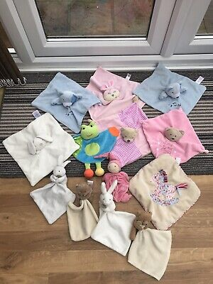 Job Lot / Bundle of 13 Baby's Comforter Blankets dou et compagnie primark soft