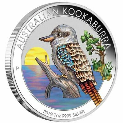2019 Australian Kookaburra 1oz. Silver Coloured Coin
