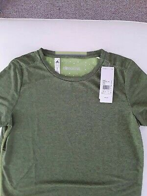 05c4621d Womens Adidas Climachill Heathered Lime Green T-Shirt (TGA17) RRP £29.99