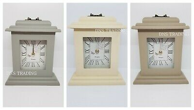 Wooden Mantel Clock Vintage Effect Free Standing Wood Butterfly Mantle Piece UK