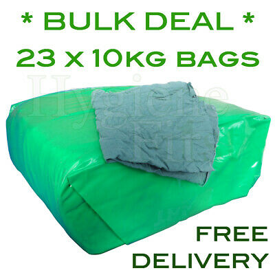 *BULK DEAL* 230kg Of Cotton Scrubs Lint-Free Engineer Cloths Rags Wipers