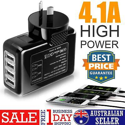 Universal Travel Wall Adapter AU Plug 4.1A AC Power Home Wall Charger 4 USB Port