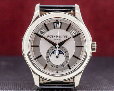 Patek Philippe 5205g 001 Annual Calendar Silver Dial 18k Box And Papers