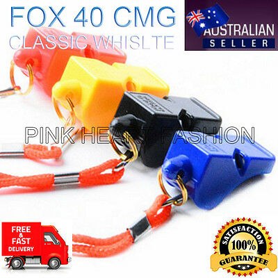 2019 NEW Fox 40 Classic CMG Referee Outdoor Indoor Football Sport Safe Whistle