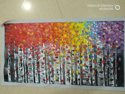 Huge Modern Abstract Art Deco Canvas Art Wall Decor Oil Painting Tree No Frame