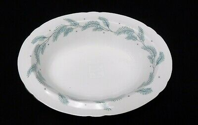 SHELLEY china SERENITY 13791 pattern Oval Serving Bowl - 9-1/2""