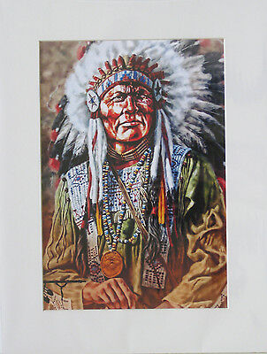 Art Deco Print+Mat Board+Foam Backing Ready to Frame-Chief #507-NEW