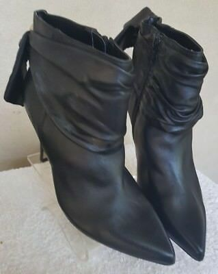 Womens 'diana Ferrari' Leather Zip Ankle Boots. Size 7.5. Black. Ex Condition
