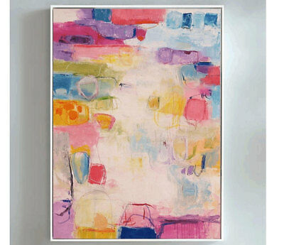 Fashion Art HandPainted Abstract Oil Painting Modern Home Decor Canvas Wall