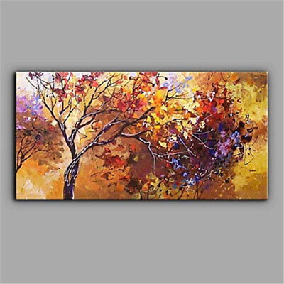 HandPainted Oil Painting Art Abstract Landscape Tree Home Decor Art Wall Canvas