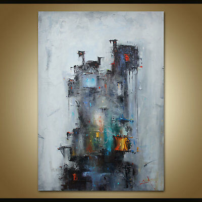 Large Modern Abstract Art Home Decor Canvas Wall 100% HandPainted Oil Painting