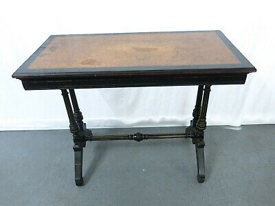 Victorian ebonised and gilt painted card table aesthetic movement #2288L