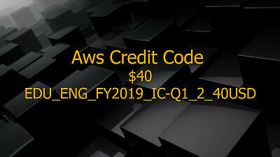 Aws Credit $40 Promo Code New Event Exp 2020