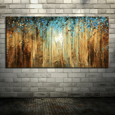Huge Modern Abstract Forest HandPainted Oil Painting Home Decor Art Wall Canvas