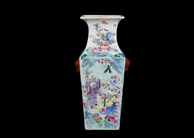 Chinesische Fencai - A Chinese Famille Rose Baluster Vase - Chinois Vaso Cinese