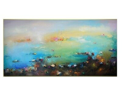 Modern HandPainted Oil Painting Abstract Scenery Home Decor Art On Canvas