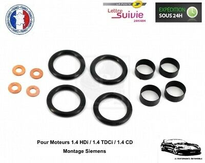 Kit Joint 4 Injecteurs pour Ford Fiesta V 1.4 TDCi - Montage Siemens - NEUF