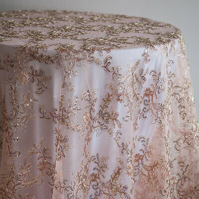 Sequin Embroidered Table Overlays Christmas Tablecloth  Wedding Event Home Decor