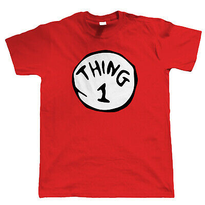 Thing 1 - 9, Mens T Shirt - Funny World Book Day Costume Fancy Dress Holiday Tee