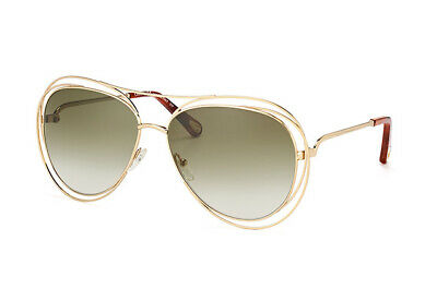 971bfc6973c 100% Genuine Bnwb Womens Chloe Carlina Cutaway Aviator Sunglasses Gold Rrp  £260