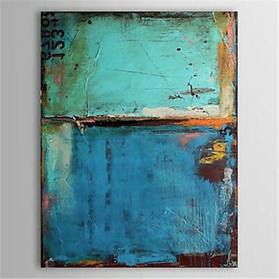 Modern Abstract HandPainted Blue Oil Painting Canvas Living Room Decor Art Wall