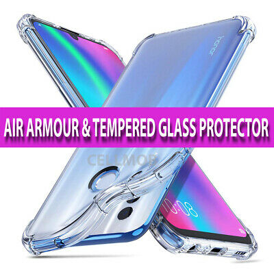 Case for Huawei P Smart 2019 Shockproof Clear AIR Cover & Glass Screen Protector