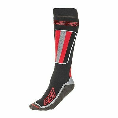RST Tour Tech Mens Long Motorcycle Motorbike Socks Black and Red