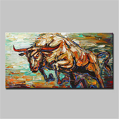 Large Modern Abstract Animal Cow HandPainted Oil Painting Art Home Decor Wall